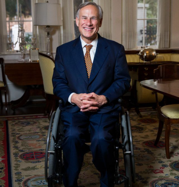 Greg Abbott is the third governor of any U.S. state to permanently use a wheelchair