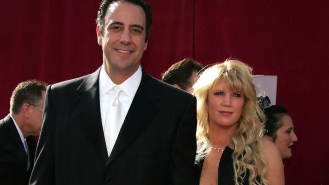 Jill Diven with her ex-husband at the Emmy's