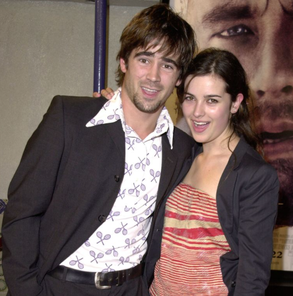 Colin Farrell with his first girlfriend, Amelia Warner