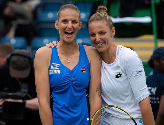 Karolina Pliskova and her twin sister, Kristyna Pliskova