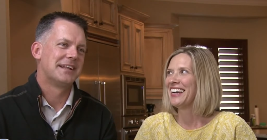 A J Hinch with his wife Erin