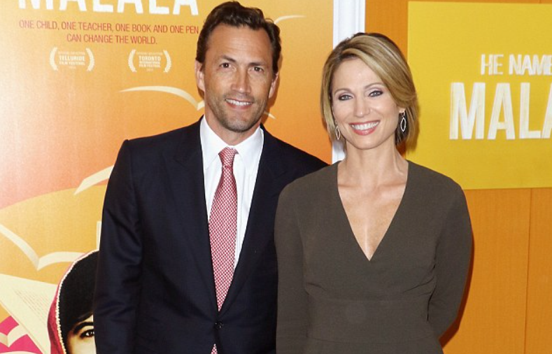 Amy Robach and husband Andrew Shue
