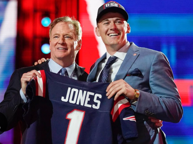 Mac Jones will be playing for the New England Patriots with the jersey number of 1