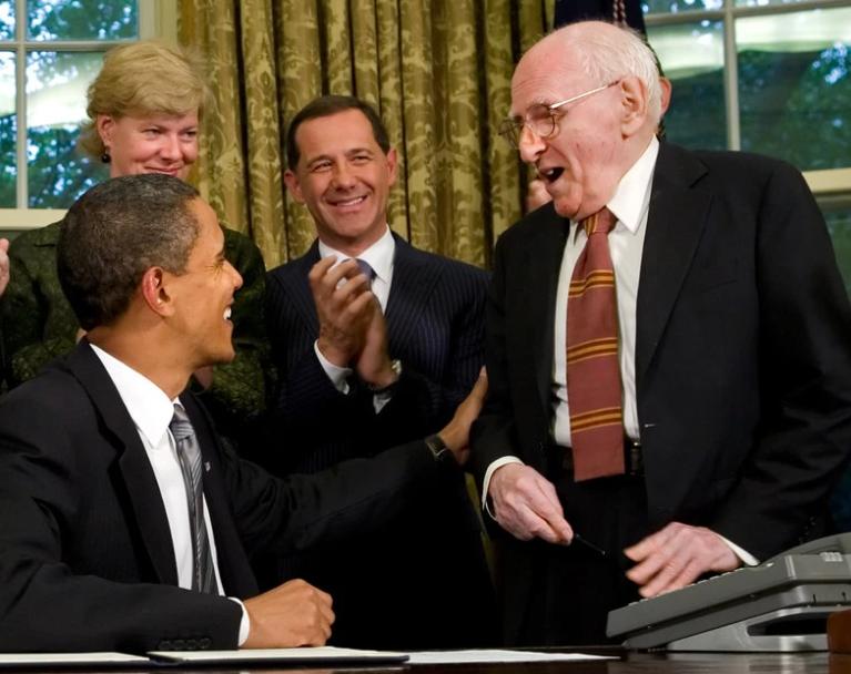 President Obama with Franklin Kameny in 2009