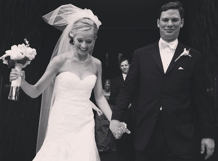 Sandra Smith and her husband, John Connelly's Wedding Picture