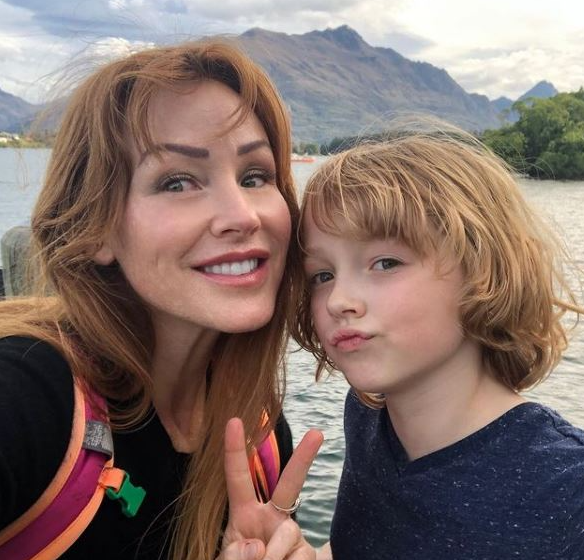 Christian CONVERY with his mom, Lisa Convery