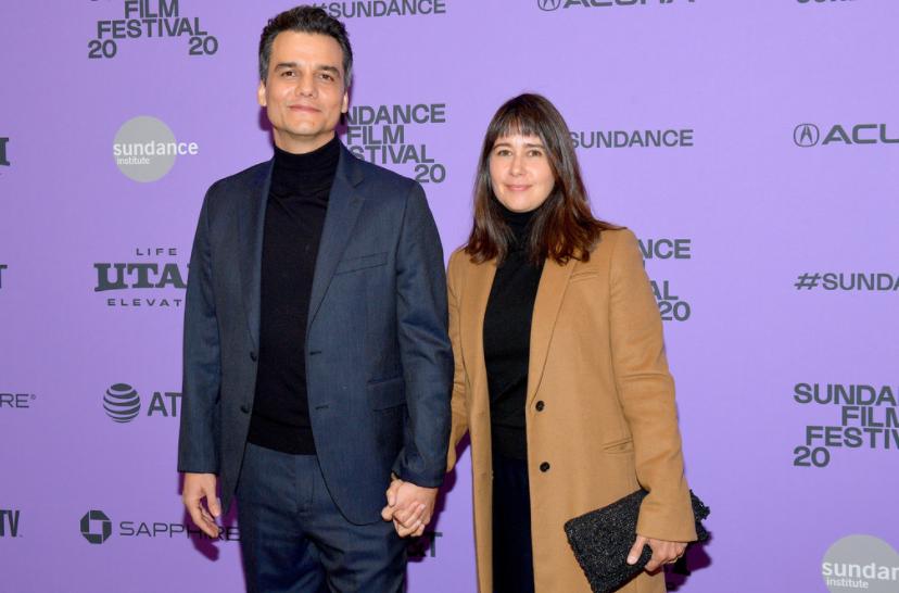 Wagner Moura and his wife, Sandra Delgado