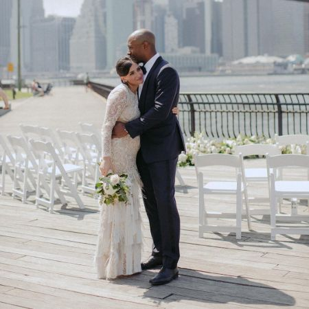Nikki and Jay on their wedding day