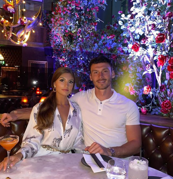Kieffer Moore and his girlfriend Charlotte Russell