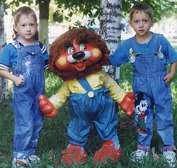 Aleksei Miranchuk with his younger brother, Anton Miranchuk