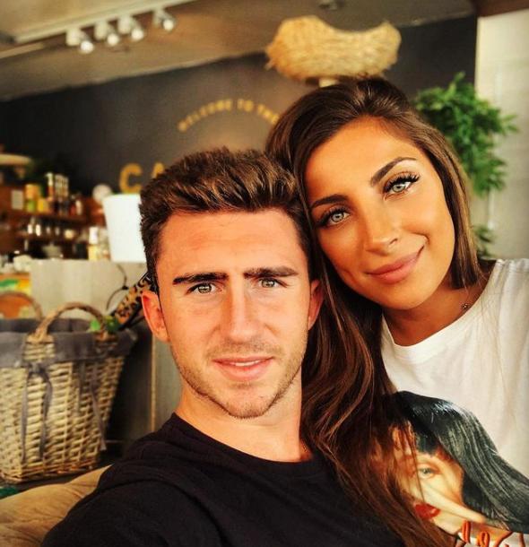 Aymeric Laporte and his girlfriend, Sara Botello