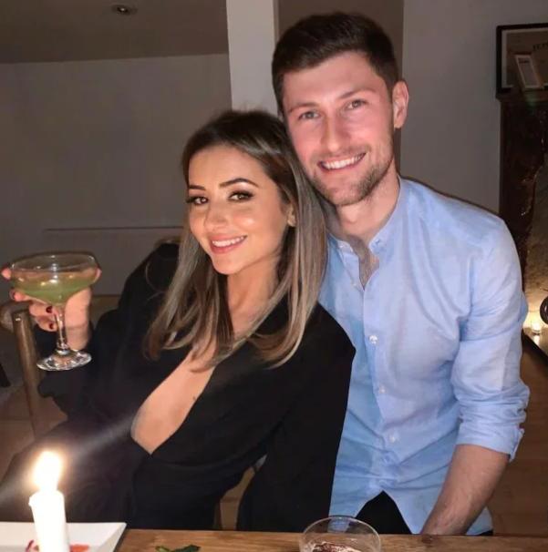 Ben Davies and his girlfriend, Caplan