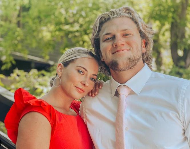 MyKayla Skinner and her husband, Jonas Harmer