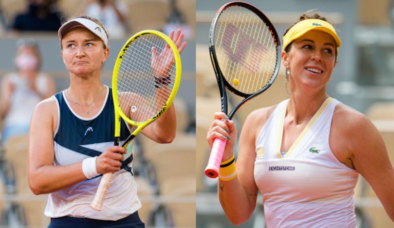 Anastasia Pavlyuchenkova (right) lost to Barbora Krejcikova (left) in 2021 French Open