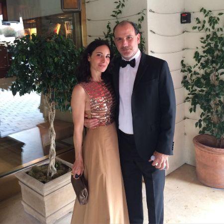 Nick Sandow with his wife, Tamara Malkin-Stuart