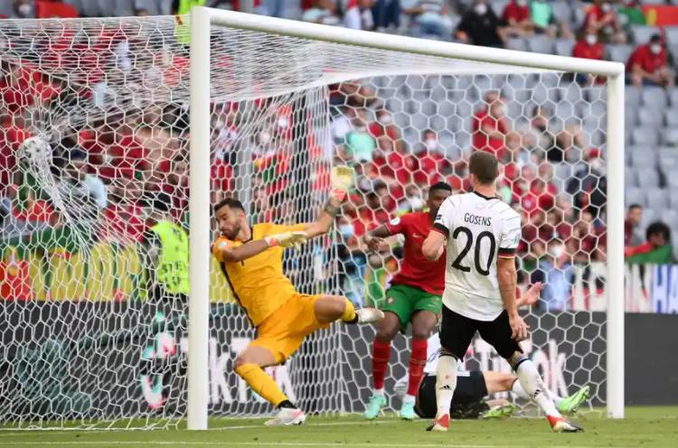 Robin Gosens scored against Portugal in UEFA Euro 2020 on 19th June 2021