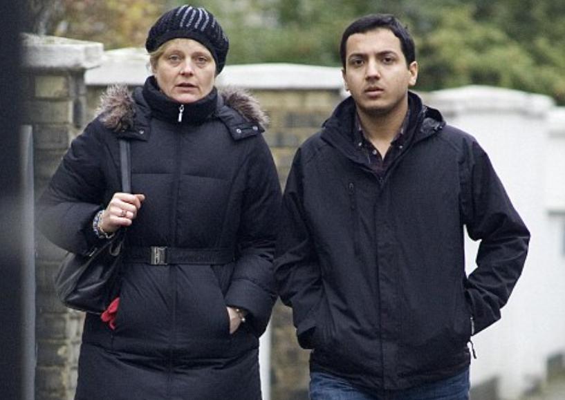 Allegra Mostyn Owen and her husband Abdul