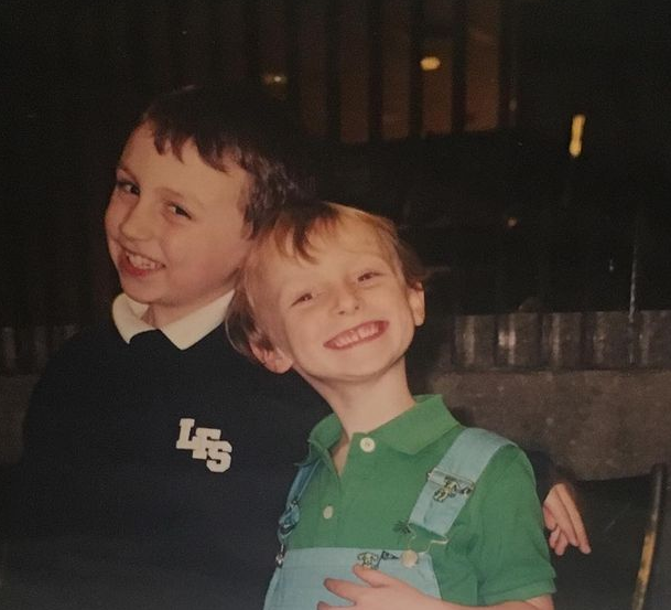Katie Ledecky with her brother, Michaels