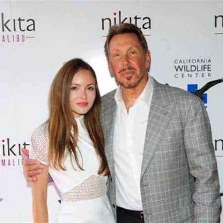 Nikita Kahn with her boyfriend, Larry Ellison.