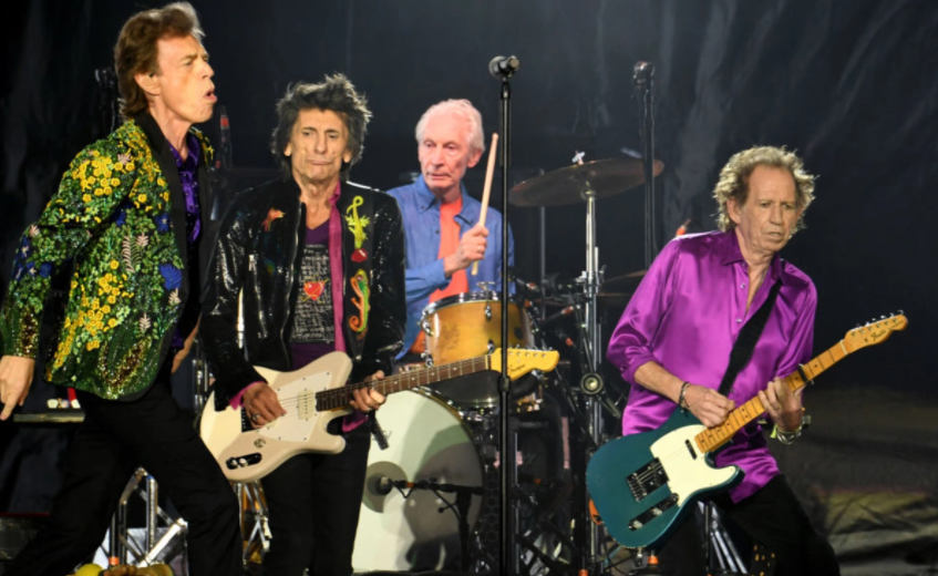 Rolling Stones Band Members, Mick Jagger, Ronnie Wood, Charlie Watts and Keith Richards