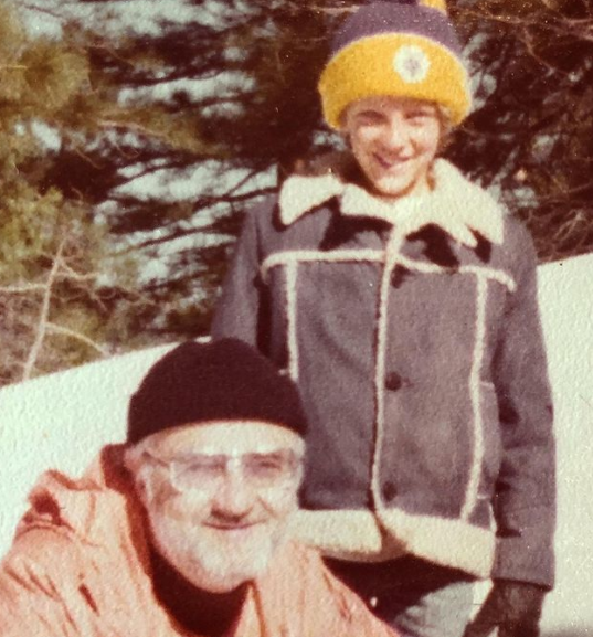 Childhood picture of Eric Perkins with his dad
