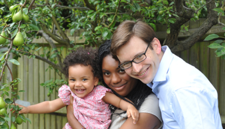 Kemi Badenoch with her husband, Hamish and their kid