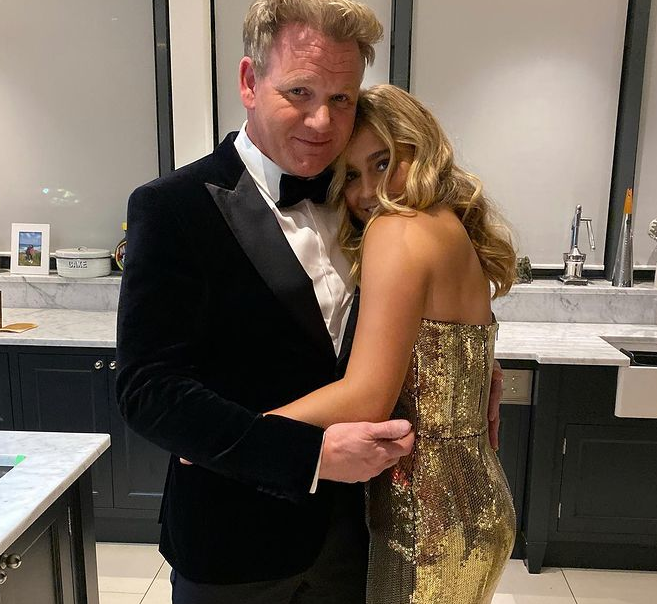 Tilly Ramsay and her father, Gordon Ramsay