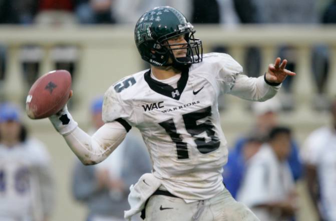 Colt Brennan was firstly selected by the Washington Redskins of the National Football League (NFL) in the sixth round of the 2008 NFL Draft