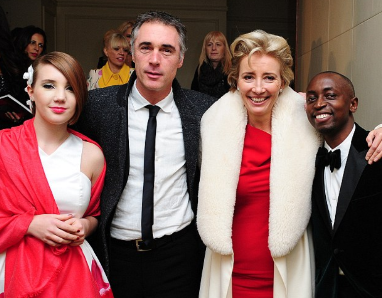 Greg Wise with his family
