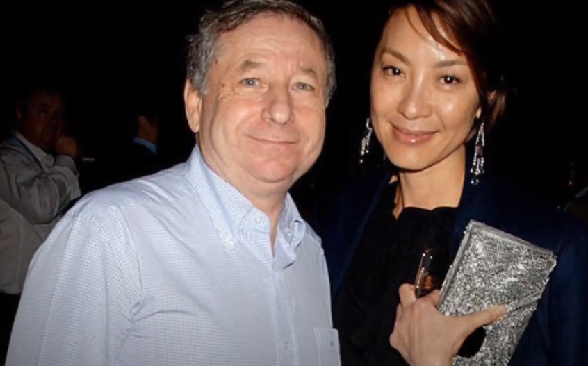 Michelle Yeoh and Jean Todt