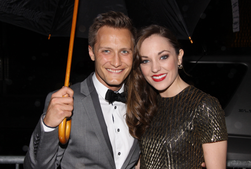 Laura Osnes and her husband, Nathan Johnson