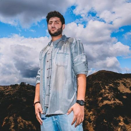 Nikan having a photoshoot in Hollywood hills.