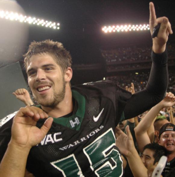 American footballer quarterback, Colt Brennan