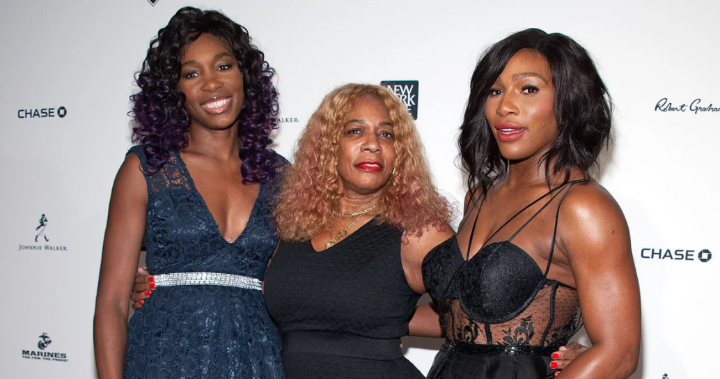 Oracene Price wiith her daughters Serena and Venus