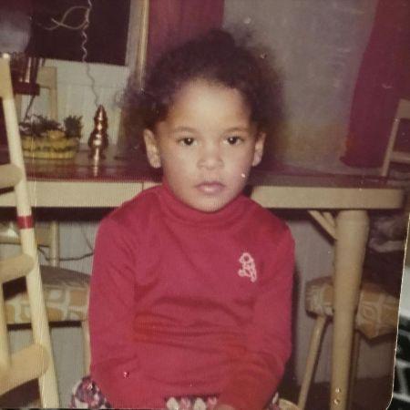Claudia Jordan in her childhood days.