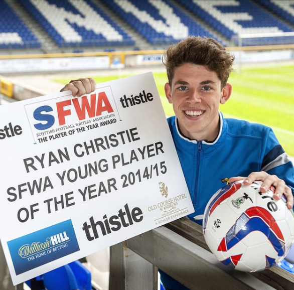 Ryan Christie was honored with the SFWA Young Player of the Year award in 2015