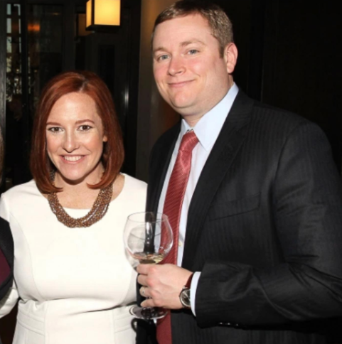 Gregory Mecher and his wife, Jen Psaki