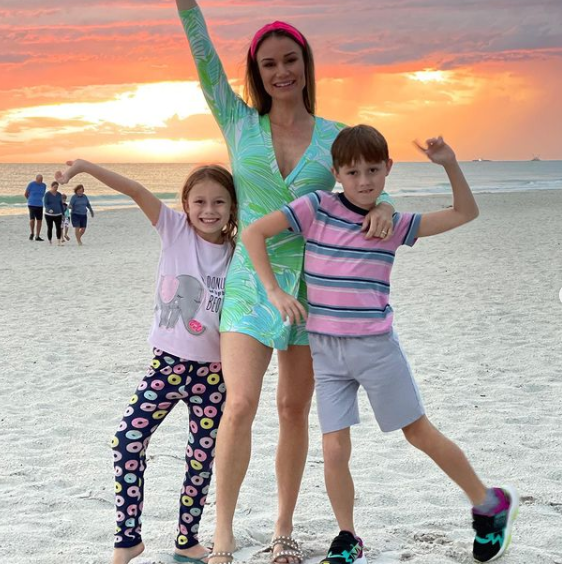 Jake Hager's wife and their kids