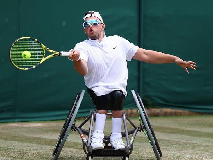 Australian wheelchair tennis player, Dylan Alcott