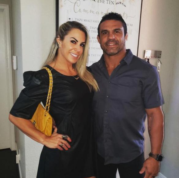 Vitor Belfort and his wife, Joana Prado