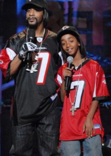 Katt Williams with one of his sons