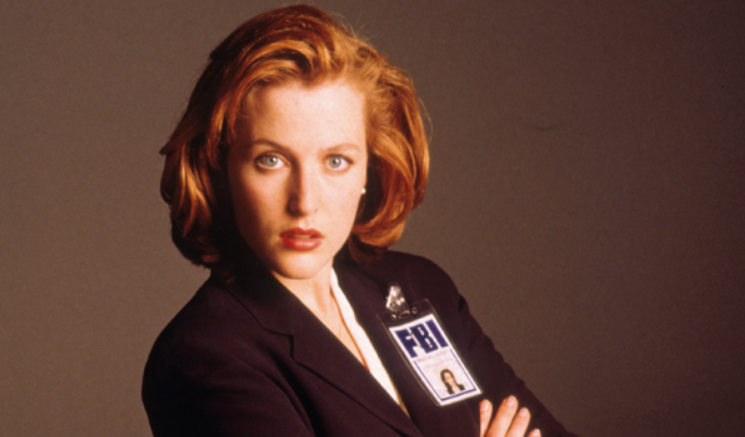 Gillian Anderson as FBI agent Dana Scully on the television series 'The X-Files'