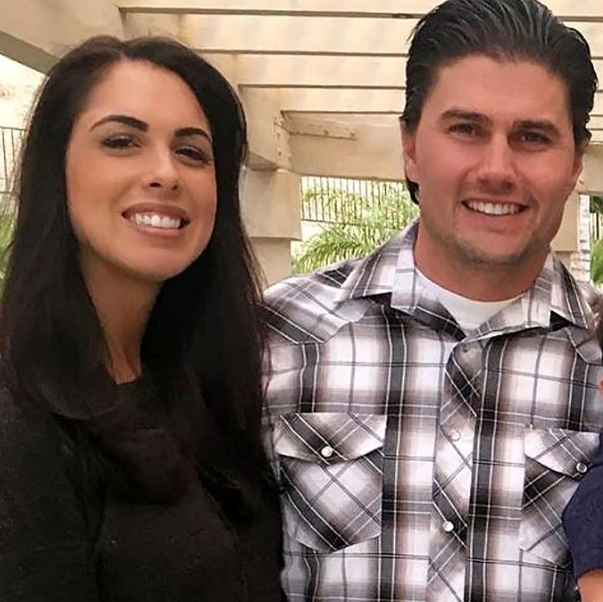 Joshua Hall and his ex-wife, Chelsea