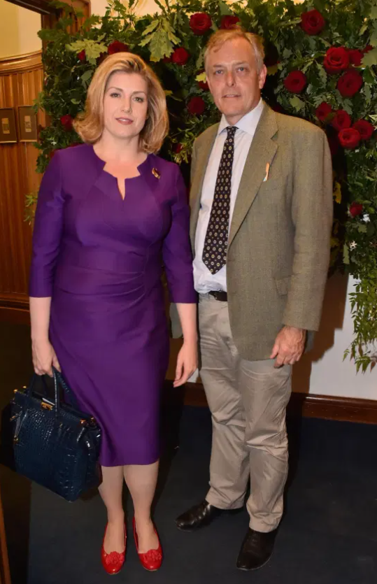 Penny Mordaunt and her boyfriend Ian Lyon, a classical singer