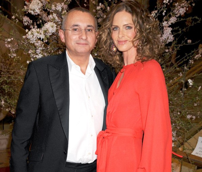 Trinny Woodall and her ex-husband, Johnny Elichaoff