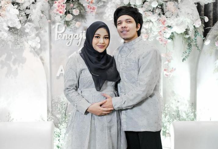 Atta Halilintar and wife