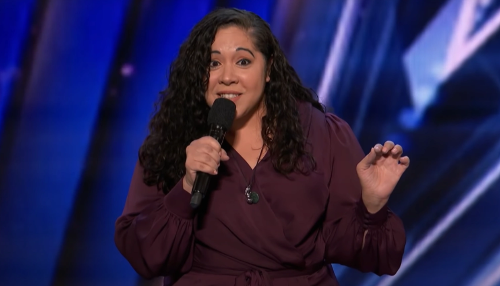 Gina Brillon, first Latina comedian to make it to the finals in America's Got Talent