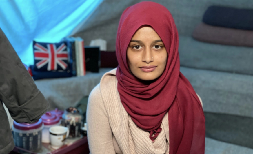 Shamima Begum, one of three London schoolgirls who left the UK for Syria to join the Islamic State group