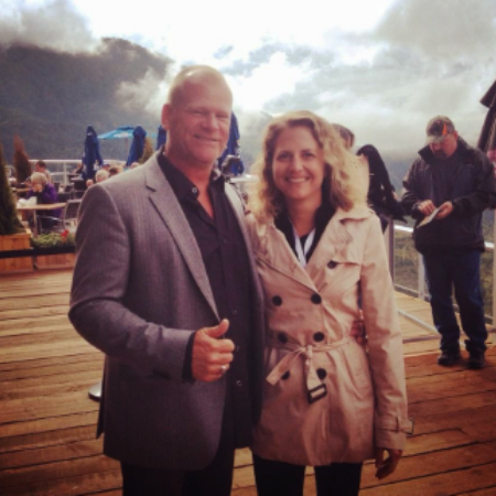 Alexandra Lorex with her ex-husband, Mike Holmes, on vacation.