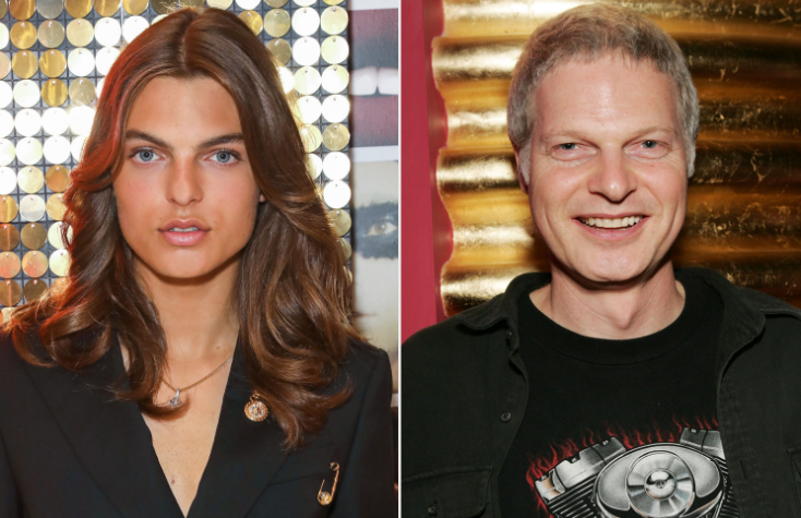 Damian Hurley (Left) and his father, Steve Bing (Right)